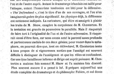 Archive : un article de Jean Blum sur Chesterton
