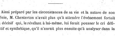 Archive : un article de Jean Blum sur Chesterton (2)