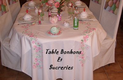 MA TABLE BONBONS ET SUCRERIES ....