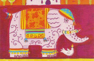 Cartes colorées et scintillantes