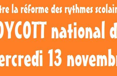 Appel au boycott national du mercredi 13 novembre (Parents)