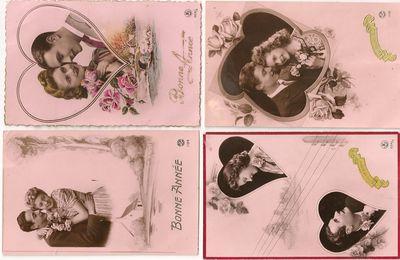 vieilles cartes pour la st valentin