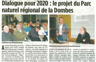 Revue de presse: Le parc naturel de la Dombes présenté à Saint André