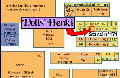 Dolls'Henki à Paris Manga ce weekend !!!