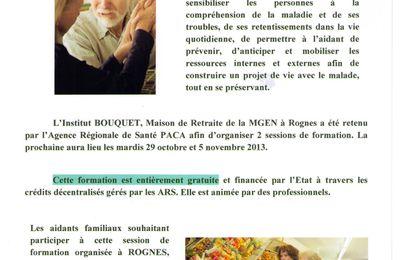 Maladie d'Alzheimer: une formation pour les aidants familiaux à Rognes