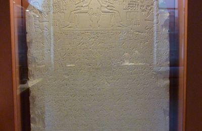 Stèle d'Intef, chancelier et rapporteur auprès du roi