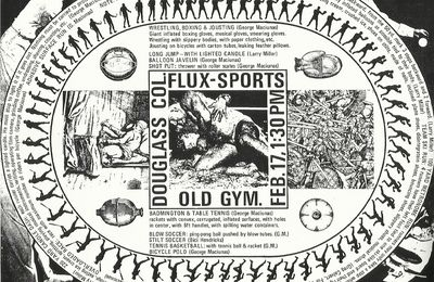 Fluxus-Sports Poster @ George Maciunas. 1970. Douglass College