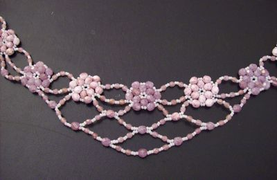 collier rose et or