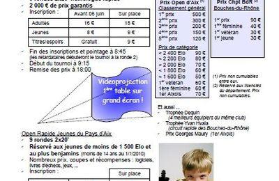 7eme rapide d'échecs d'Aix en Provence & Cht rapide des BdR.