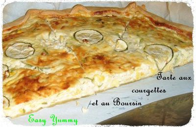 Tarte courgette-boursin (ma version)