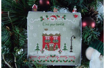 Maison de Noël de Laureline Broderie