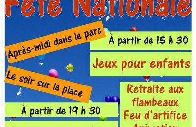 Fête du 14 Juillet 2014 à Chahaignes