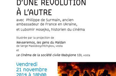 """INALCO : """"D'une révolution à l'autre"""", vendredi 21 novembre 2014 à 18h00"""