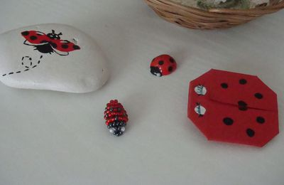 Perles : coccinelle
