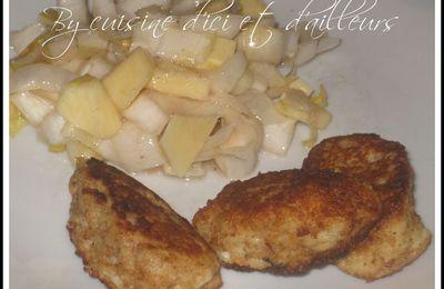 Croquettes de poisson et pomme de terre à l'ail et fines herbes