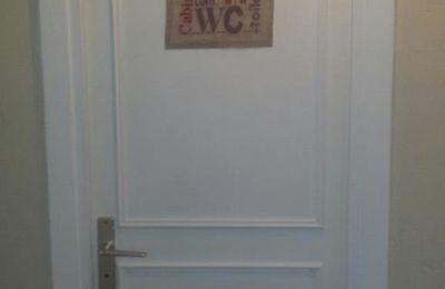 Panneau de porte Toillettes