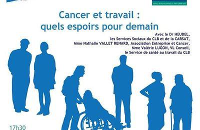 """CANCER ET TRAVAIL"" - ERI LYON - 21 Octobre 2014"