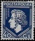Quelques timbres polonais consacrés à Chopin