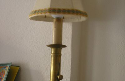 bougeoir en lampe
