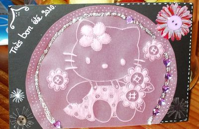 carte hello kitty en pergamano