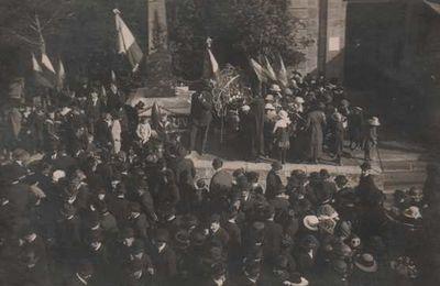 Le Monument Aux Morts de Ruaux- L'Inauguration