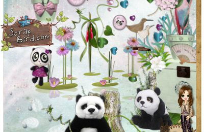 Kit Little Panda - Freebie QP Little Panda