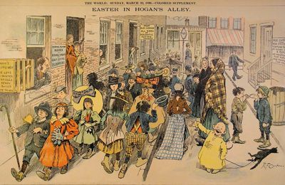 "Fumetti classici. Richard Felton Outcault, Yellow Kid (Hogan's Alley), Pasqua nel vicolo Hogan, da: ""New York World"", 1896."