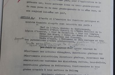 Un supposé document original du statut des juifs accablerait le maréchal Pétain
