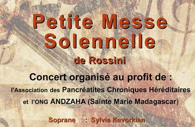Concert Rossini du 29 avril