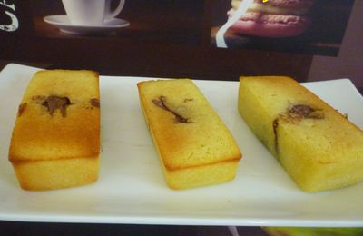 Financiers Citron-Nutella