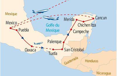 MEXIQUE : sur les pas des Aztèques et des Mayas...