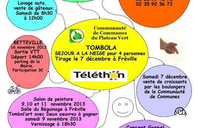 Programme du Téléthon 2013 sur la Communauté de Communes du Plateau Vert