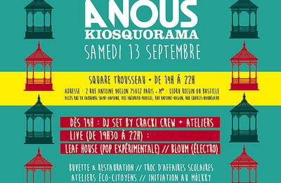 Fresque collective participative / Festival Kiosquorama