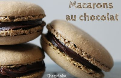 Yes I did it ! Mes premiers macarons au chocolat !