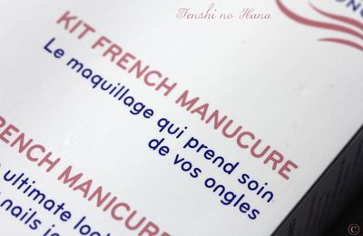 La French chez Ecrinal (test du kit french manucure)