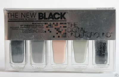 The New Black Underground Digital Heathered Set et Edgy nail art