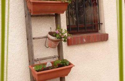 une échelle porte jardinière !