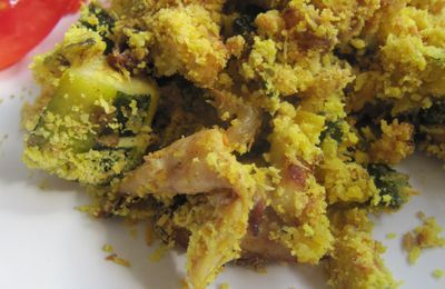 "CRUMBLE LEGUMES POULET ""INDIAN STYLE""."