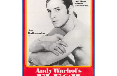 Joe DALLESANDRO...FLESH Affiche allemande