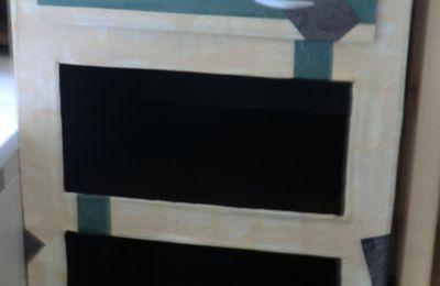 meuble de salle de bain en carton