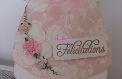 Carte robe rose