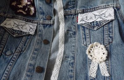 veste en jean customise