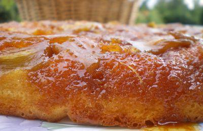 Mon Gâteau Façon Tatin a la Rhubarbe