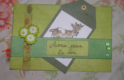 Ma carte pour le ten scketch du blog SCRAPDELICE