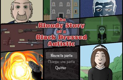 The bloody story of a black dressed authistic