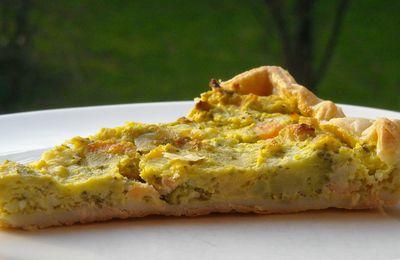 Tarte chou-fleur, brocoli, saumon