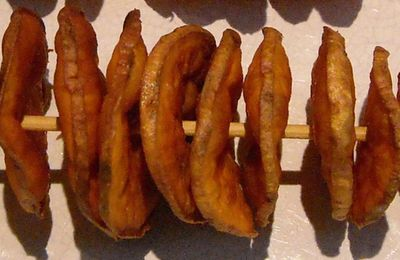 Brochettes frites de patates douces