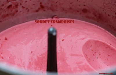 ^^Sorbet express framboises au Cook'in^^