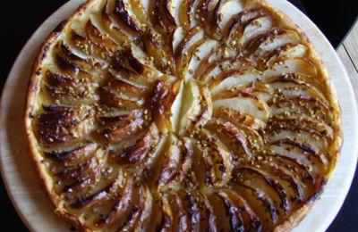 Tarte aux pommes et aux pistaches