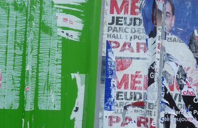Législatives 2012 : l'affichage sauvage ou l'hommage à Villeglé